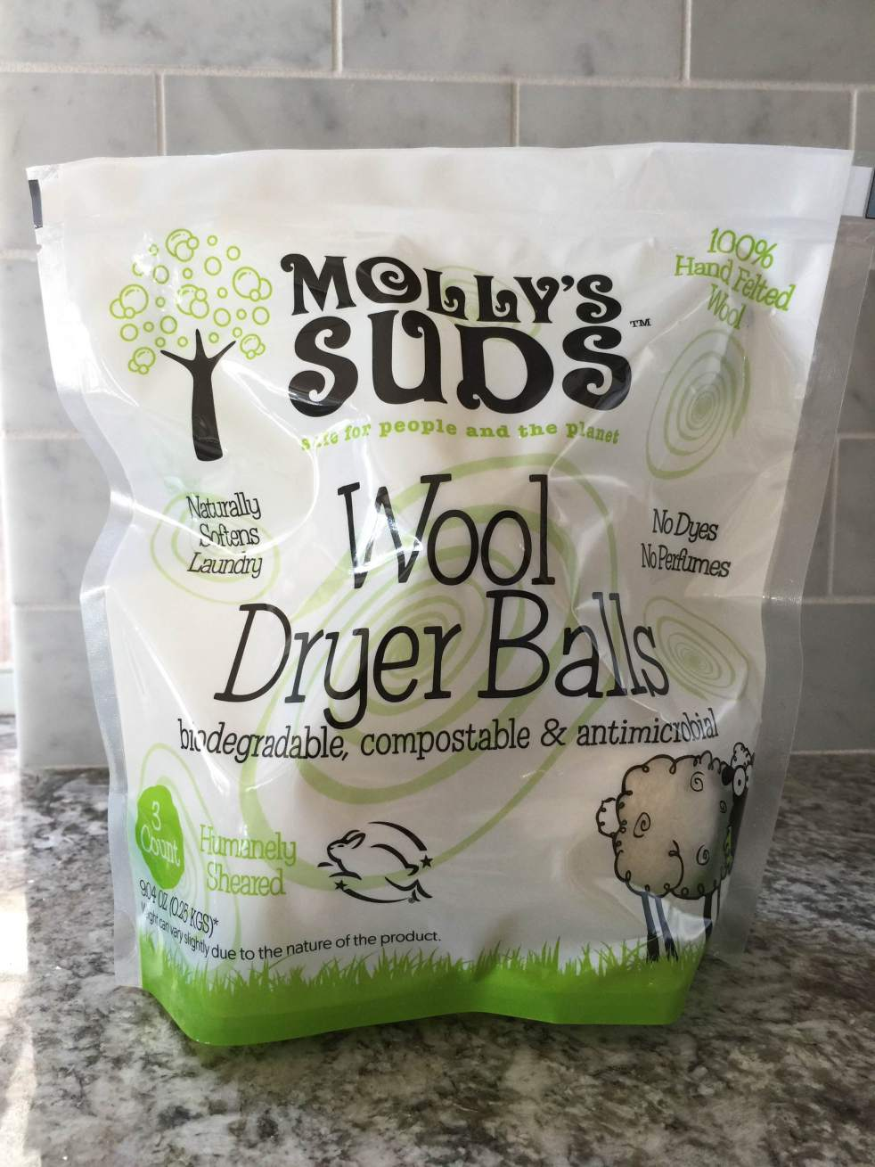 Molly's Suds Dryer Balls Front