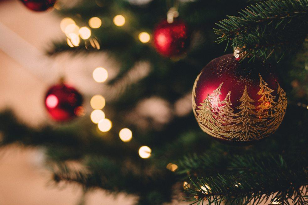 Christmas ball on tree